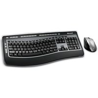 Microsoft XSA-00001 Wireless Laser Ergonomic Keyboard Desktop 6000 V3 Black- Silver