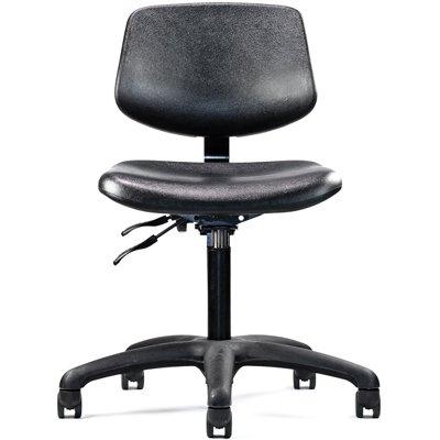 Neutral Posture Graphite Urethane Lab Healthcare Cleanroom Chair