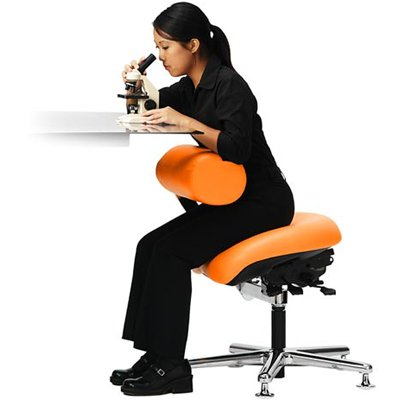 Neutral Posture AbChair Task Lab Healthcare ESD Cleanroom Stool - Posture chair