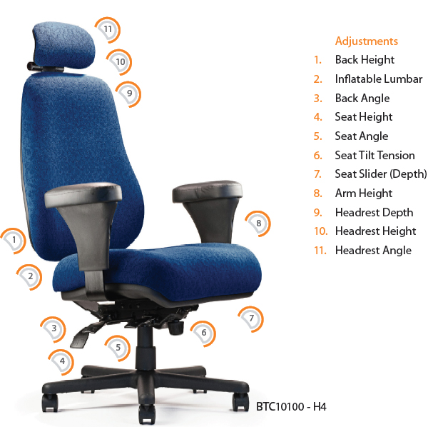 neutral posture btc10100 big & tall ergonomic task office chair