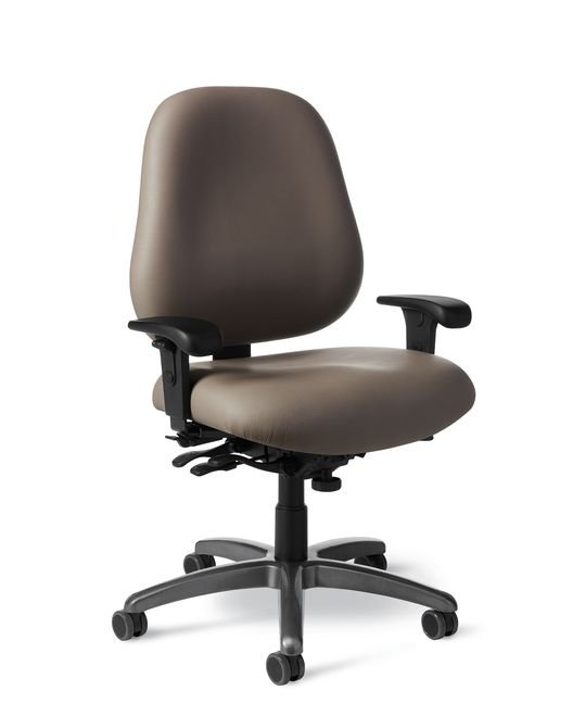 Side View   Office Master MX84IU 24 7 Intensive Use Ergonomic Chair