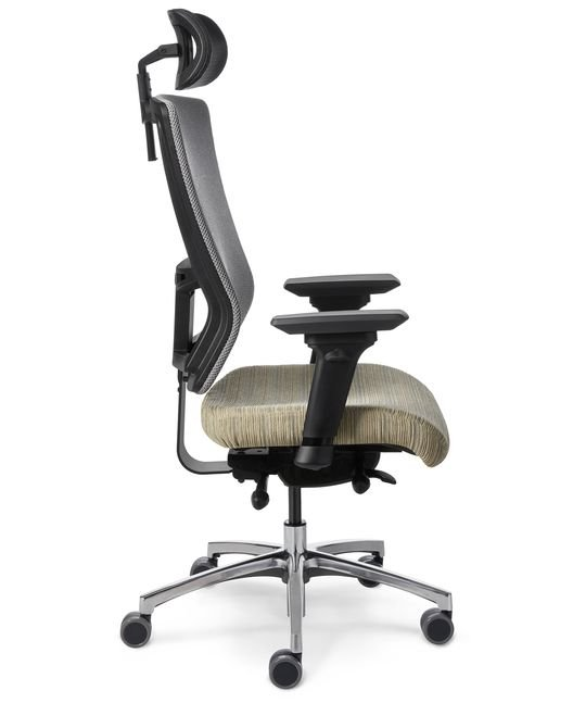 Side View Office Master Affirm Af529 Ergonomic Chair With Headrest