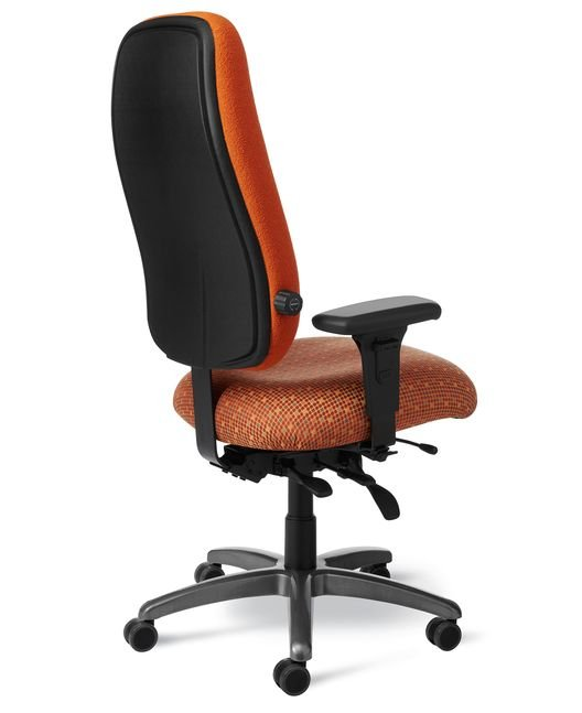 Back View Office Master Ptym Xt Paramount Value Large Build Chair