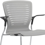 OM5 ED-GL2-SD Stacking Guest Chair with Arms