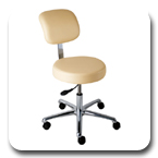 Office Master Classic Professional Lab Stool, Multi Functional Work Stools, Low Maintenance, Simple Adjustment Healthcare Seating