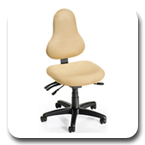 Office Master DB Discovery Healthy Back Multi Function Executive Performance Stool, Cross Performance Ergonomic Seating and Task Chair