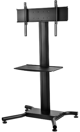 "Peerless SS-560M Floor Stand for 32"" to 65"" Displays up to 250 lbs with Metal Shelf"