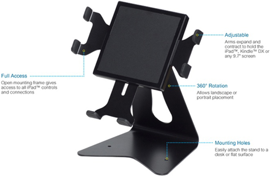 Premier IPM-300 Reversible Adjustable Mobile Free Standing iPad Stand