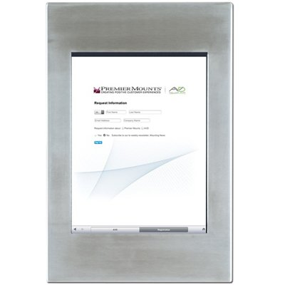 premier ipm700 protected fully enclosed mounting frame for ipad in stainless steel