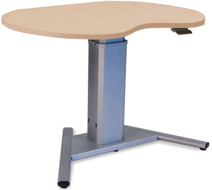 SIS Move Spring Kidney Organic V-Base Height Adjustable Ergonomic Desk