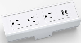 SECL-3-USB-GW72 - 3 power outlets and 2 USB ports