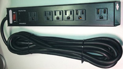 Mountable Power Strip, 6-Outlet Surge Suppressant, Wall Mount or Under Desk Mount, ED-PS6-UD