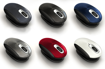 Different colors of Smartfish L4200 Whirl Mini Laser Ergonomic Mouse with Anti Gravity Comfort Pivot