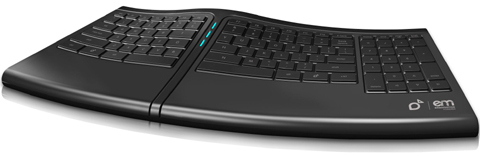 Smartfish K2418B Ergonomic ErgoMotion Keyboard with Anti fatigue Comfort Motion