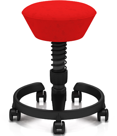 Via SWUS-00-AAR Swopper Stool With Casters and Anthracite Base Only
