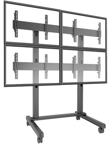 Chief LVM2x2U 2x2 FUSION Large Freestanding Micro Adjustable Video Wall Cart