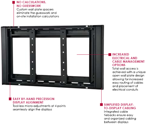 "Peerless DS-VW760 Flat Video Wall Mount for 40"" to 65"" Displays"