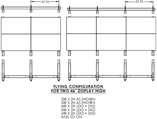 Technical Drawing for Premier MVWS-3X3-46H Header Only