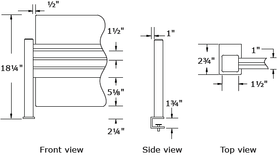 Technical Drawing for Workrite 971 Sierra Privacy Panel