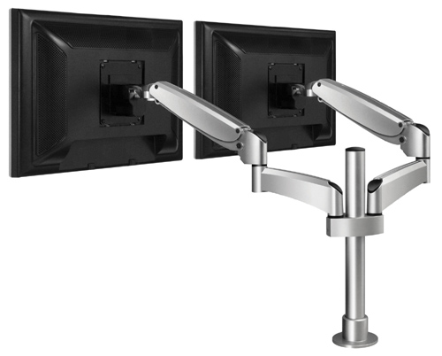 Workrite PA2000 Poise Flat Panel Dual Display Monitor Arms PA-2000