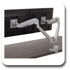 Workrite CONF-2SDA-WOB-S Conform Dual Articulating Monitor Arm