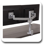Workrite CONF-2SDS-WOPB-S Conform Dual Static Monitor Arm