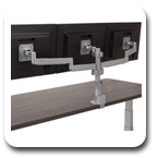 Workrite CONF-3SDS-WOPB-S Conform Triple Static Monitor Arm