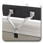 "Workrite WA2000 Willow Dual Wide Monitor Arm up to 21.5"" reach"