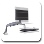 Workrite Solace Single or Dual Monitor Sit-Stand Workstation