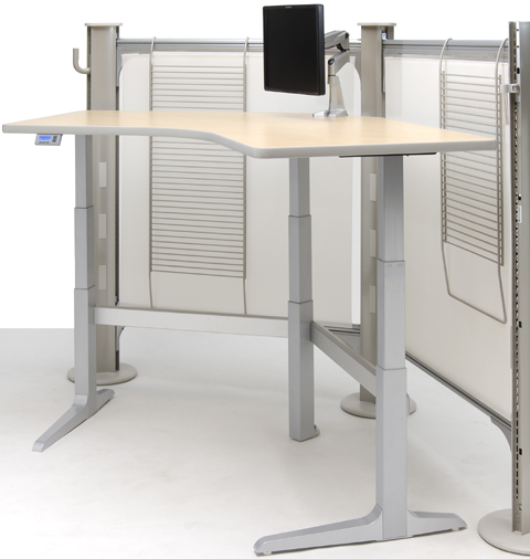 WorkRite Sierra Electric 120 Degree Workstation