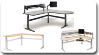 Workrite Sierra Electric Height Adjustable Tables and Workcenters