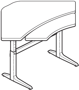 WorkRite Sierra Pin Equal Corner 2 Legs Bi-Level Adjustable Height Workcenter
