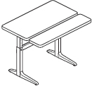 Workrite Sierra Pin Rectangular Bi-Level Height Adjustable Tables and Desks