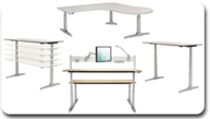 Workrite Sierra HX Electric Height Adjustable Workcenters Sit to Stand Table/ Desk Workstation