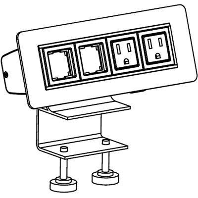 workrite 95302 sierra above desk power  data supply