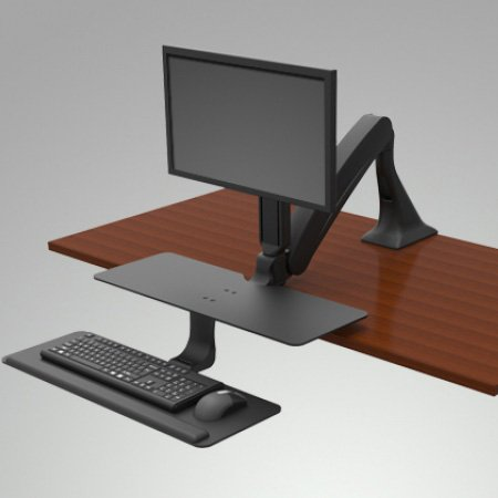 Ise Activate Single Or Dual Monitor Sit Stand Workstation