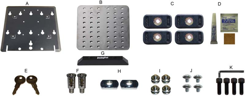 Components of Anchorpad 34196 Double Plate System