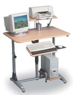 Balt 82493 Ergo E. Eazy Pneumatic Workstation- Total ergonomic comfort. Easy pneumatic adjustment. Alternate between sitting and standing positions during the day to relieve back stiffness.