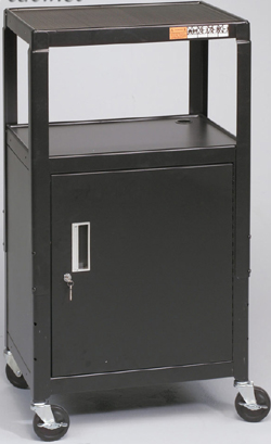 Balt 85992 Adjustable Audio Visual Utility Carts with Cabinet