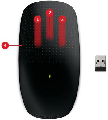 Microsoft 3KJ 00001 Comfortable Touch Mouse