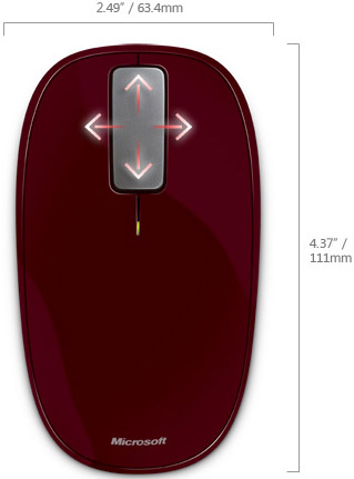 Technical Drawing of Microsoft Explorer Touch Mouse Limited Edition
