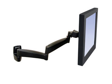 Ergotron 28-096-200 Wall Mount 200 Series Arm (black)