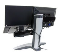 Back view of Ergotron 33-331-057 Neo-Flex Combo Lift Stand