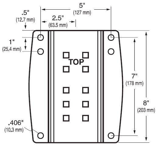 Technical Drawing for Ergotron 60-152-100 Wall Mount Plate for SV and HD Combo Arms