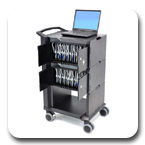Ergotron 24-224-085 Tablet Management Cart with Two Modules, 32 Tablet Capacity, each Tablet up to 2.2 lbs