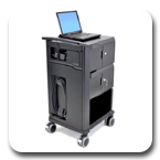 Ergotron 24-238-085 Tablet Management Cart with Individual Status Indicator, Two Modules, 32 Tablet Capacity, each up to 2.2 lbs