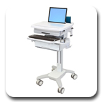 Ergotron SV31-6110-0 StyleView PHD Healthcare Laptop Cart with 1 Drawer and Non-powered (white/grey)