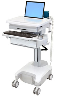 Ergotron SV32-81111 StyleView Patient healthcare Delivery PHD Laptop Cart