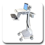 Ergotron SV42-6101-1 StyleView EMR Laptop/Notebook SLA Powered Ergonomic Healthcare Cart