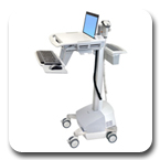 Ergotron SV42-6102-1 StyleView EMR Innovative Ergonomic Healthcare Laptop Cart LiFe Powered